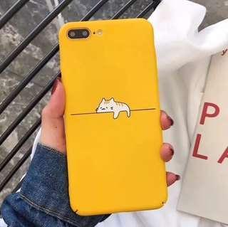 (Hard) Yellow Lazy Cat Sleeping iPhone Case