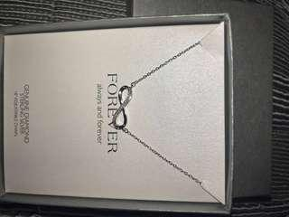 """Sterling Silver 18"""" Necklace with Diamond Accent I-J/13"""