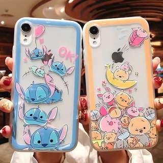 (Soft) Transparent Stitch Winnie Pooh Doodle iPhone Case