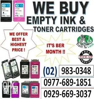 WE BUY EXPIRED AND EMPTY INK CARTRIDGES