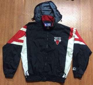 Starter Chicago Bulls Vintage Hoodie Windbreaker Jacket