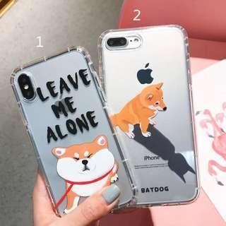 (Soft) Transparent Shiba Dog iPhone Case