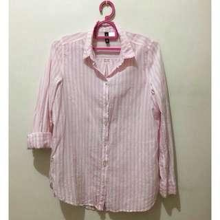 *Repriced! H&M Pink Stripes Longsleeves Top