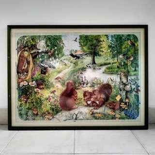 Nature wildlife puzzle frame