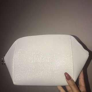 Dior White Makeup/Toiletry Bag