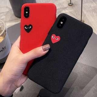 (Hard) Matte Inspired Play Heart Logo iPhone Case
