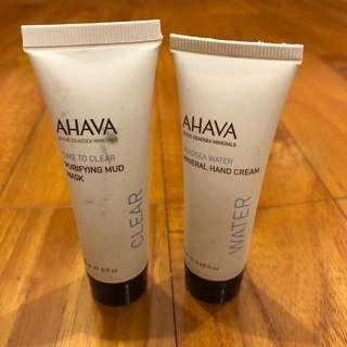 AHAVA - Purifying Mud Mask and Mineral Hand Cream
