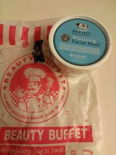 Authentic Beauty Buffet Scentio Q10 milk plus whitening facial mask 牛奶美白保濕面膜