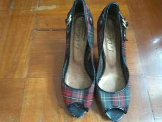 女裝露趾高踭鞋