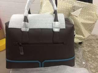 Braun buffel travel tote brand new .  leather