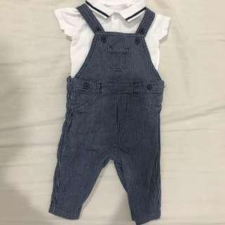 Mothercare jeans romper set