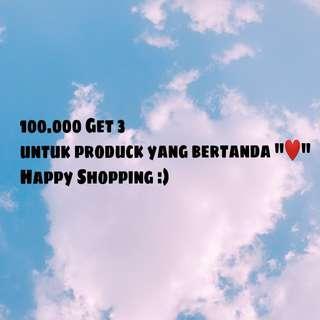 100.000 Get 3 pcs :)