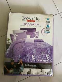 Novelle Cotton Bed Sheet - Queen