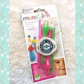 Munchkin ClickLock Replacement Straws with Valves