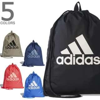 🚚 (限量優惠出清) 全新 Adidas Per Logo GB 愛迪達 運動 休閒 黑色 束口袋 抽繩袋 BR5051