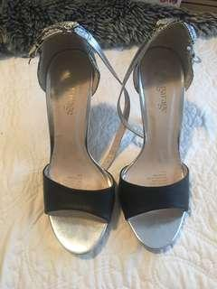 Black and silver heels size 8