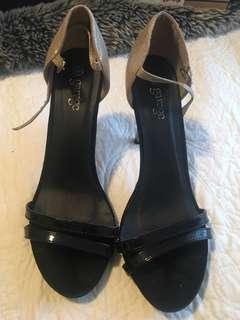 Black/gold heels size 8