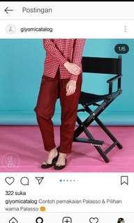 Giyomi palasso pants red