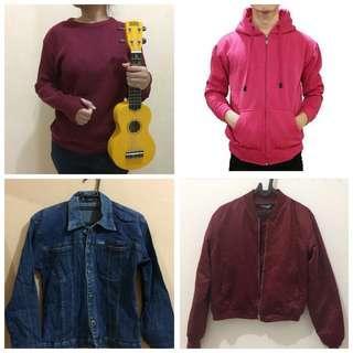 Jaket, bomber, sweater