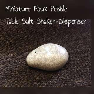 Miniature Faux Pebble Personal Table Salt Shaker