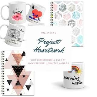 Customized Mug, Notebook and Planner