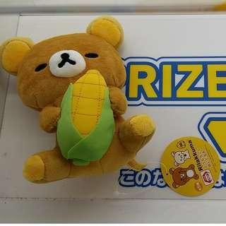輕鬆小熊 鬆弛熊 抱粟米