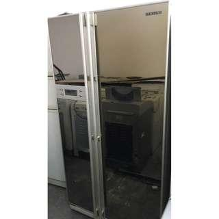 Mirror Fridge Peti Ais Recond Side By Side Samsung