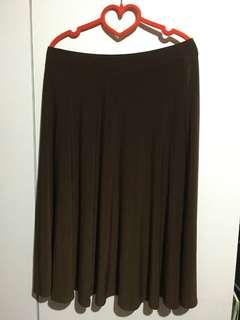 Dark Brown Skater Skirt