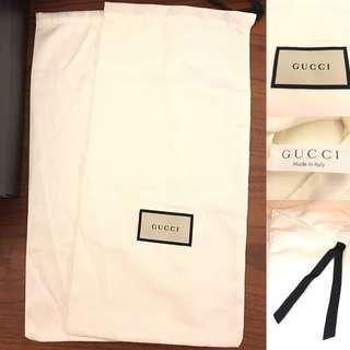 全新🆕GUCCI 絲滑質感 塵袋 鞋袋 銀包保護套 索袋 dust cover dust bag