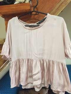 Zara light pink blouse