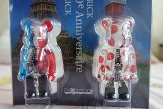 Tokyo Tower & Eiffel Tower Be@rbrick 100%
