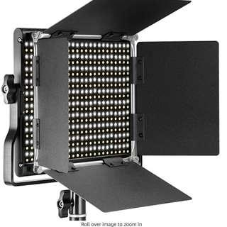 1 pair Neewer Professional Metal Bi-Color LED Video Light for Studio, YouTube, Product Photography, Video Shooting, Durable Metal Frame, Dimmable 660 Beads, with U Bracket and Barndoor, 3200-5600K, CRI 96+