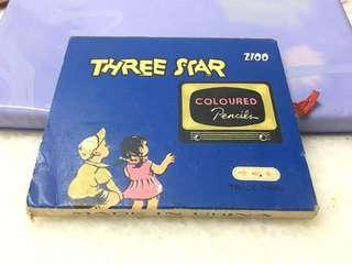 Vintage collection 60-70s Three star coloured pencils