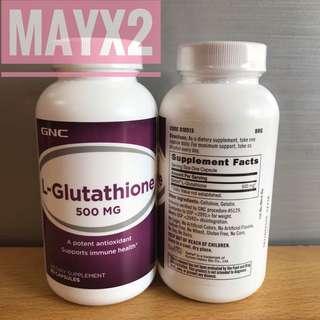 🔥有助減少黑色素形成🔥特強抗氧化力🔥抗氧美白🔥 GNC左旋穀胱甘肽500mg (L-GLUTATHIONE)