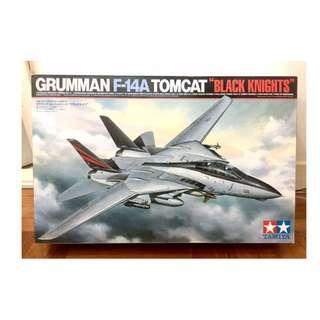 """!!! 絕版 全新 TAMIYA 田宮 雙星 1/32 GRUMAN F-14A TOMCAT """"BLACK KNIGHTS"""" (電影 Top Gun 用的經典美軍戰鬥機)"""