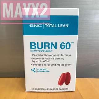 🔥增強新陳代謝 🔥燃燒卡路里🔥 GNC Burn 60 燒脂60 (60粒)