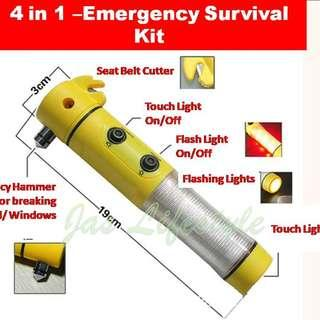 Emergency Car Hammer, Windshield Hammer, LIFE SAVER Vehicle/ Car Kit, 4 in 1 Tool Glass Window Breaker Seat Belt Cutter, Emergency Light