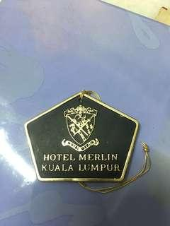 Since 1966 HOTEL MERLIN (KUALA LUMPUR) registered check-in card.