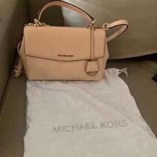 michael kors ava beige authentic bag / tas mk original