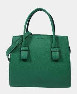 Espirt Handtasche Crossby and Wallet in Petrol Green