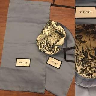 全新🆕特別版雙層襟用 GUCCI 塵袋 鞋袋 滑料面 dust cover dustbag