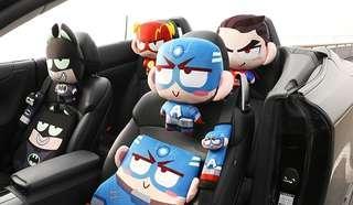 Q版英雄系列公仔 汽車頸枕 + 安全帶套