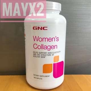 GNC Women's Collagen 180粒 1000mg 膠原蛋白(第1型) (骨膠原) *新裝*