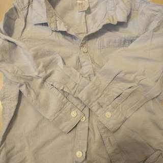 🚚 H&M 長袖寶寶襯衫 尺寸86 九成新 保存良好