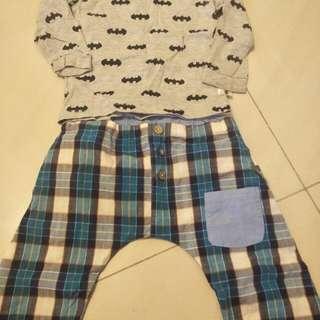 🚚 H&M居家棉T (9成新) 薄感防蚊褲(全新) 合售100元
