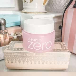 Banila co Clean It Zero facial cleansing balm • bestselling award winning makeup remover • almost full