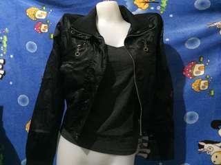 Silky Black Jacket (folded&hung)