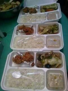 Food trays and packed lunch