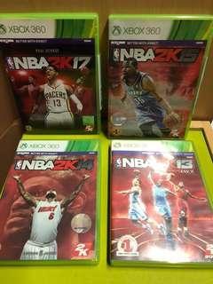 XBOX 360 NBA2K 13,14,15,17