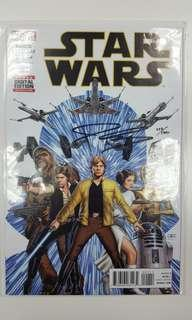 Star Wars #1 (2015) Dynamic Forces Signed Edition, Signed By John Cassaday With C.O.A! Limited To 1200 Copies & Sold Out Worldwide! Scorching!!